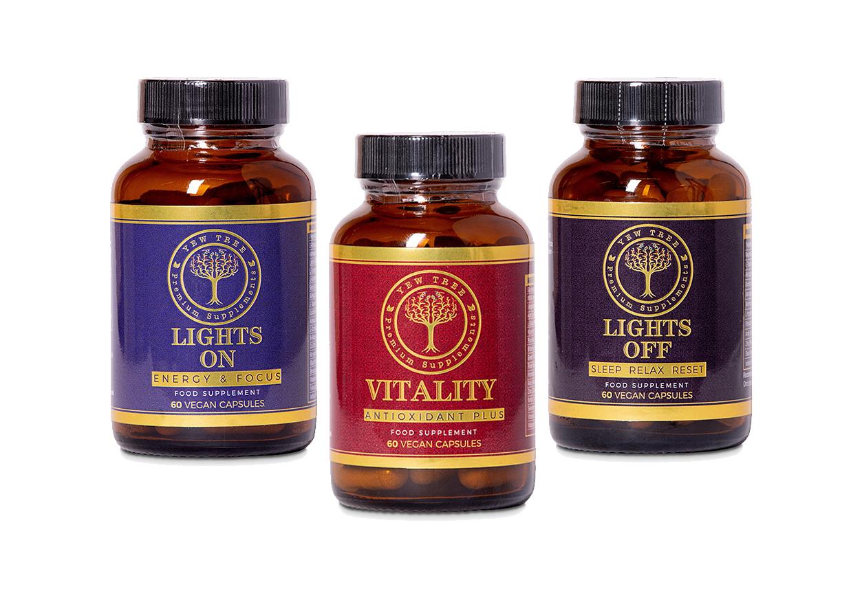 premium supplements bottle
